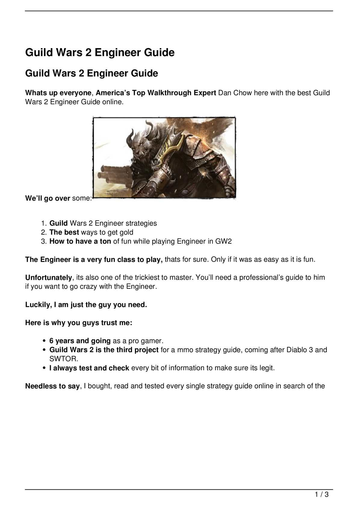 Calaméo - Guild Wars 2 Engineer Guide