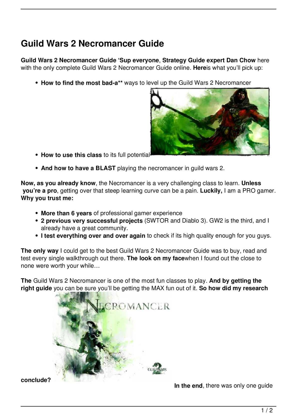 Calaméo - Guild Wars 2 Necromancer Guide