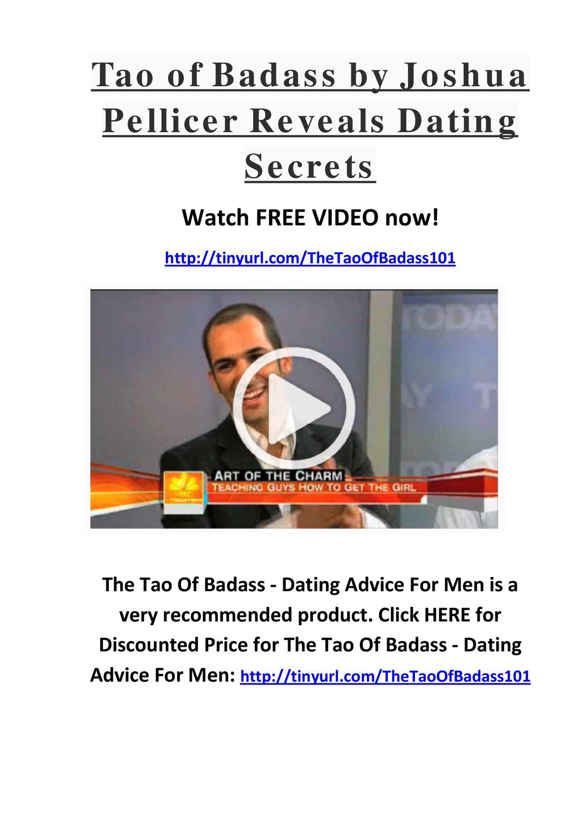 tao af badass dating tilslutte websteder eller apps