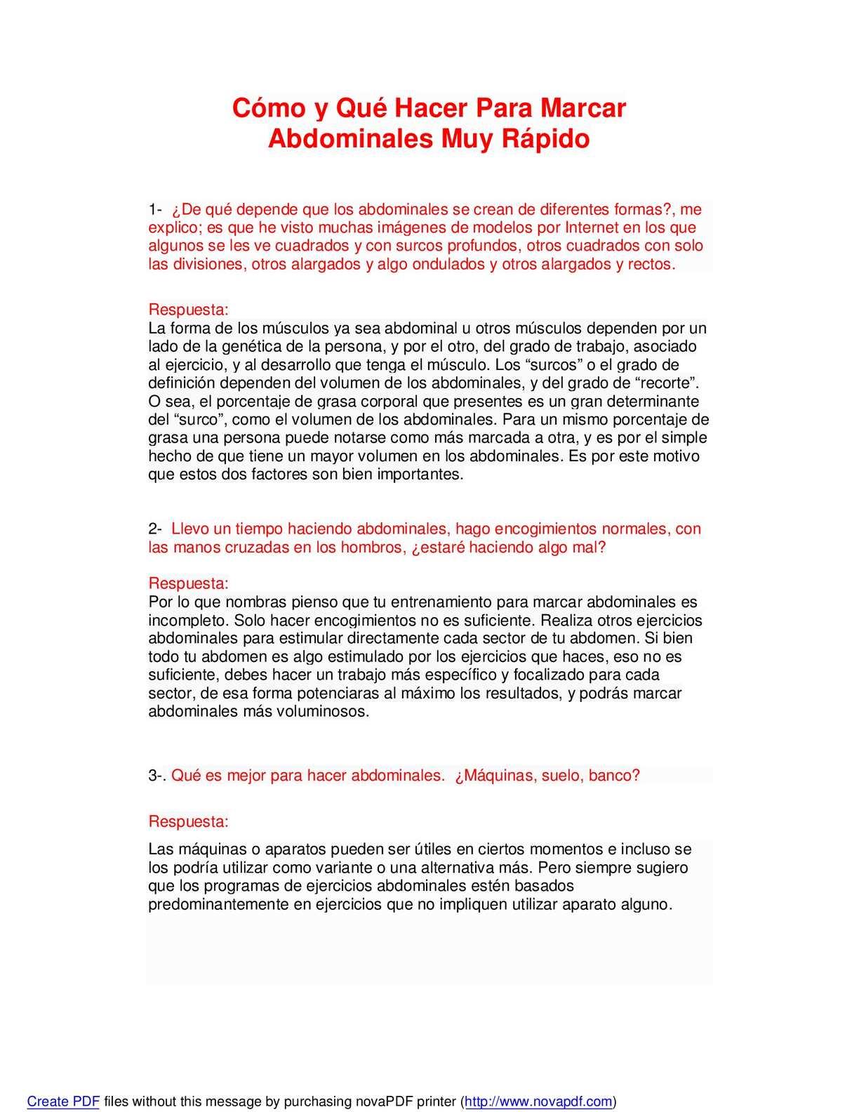 formas de marcar el abdomen rapido