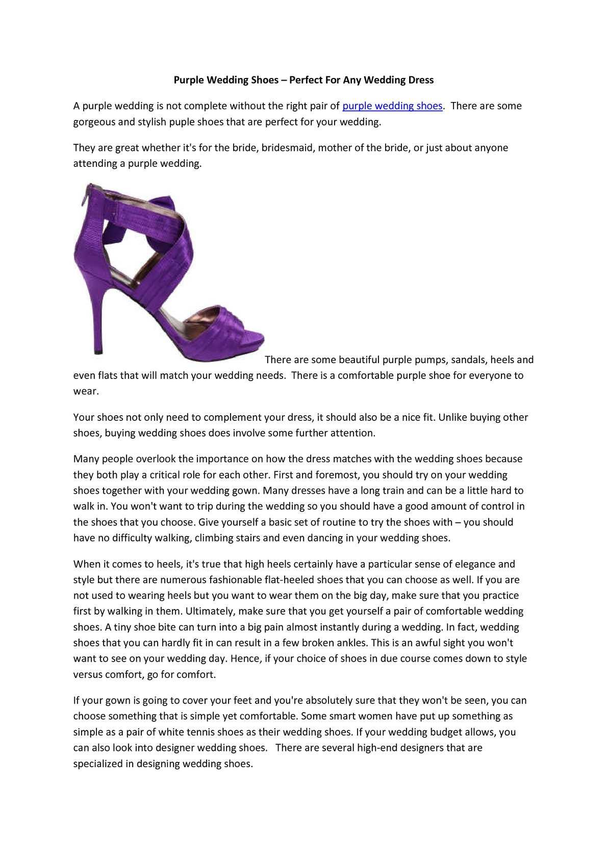 Calameo Purple Wedding Shoes
