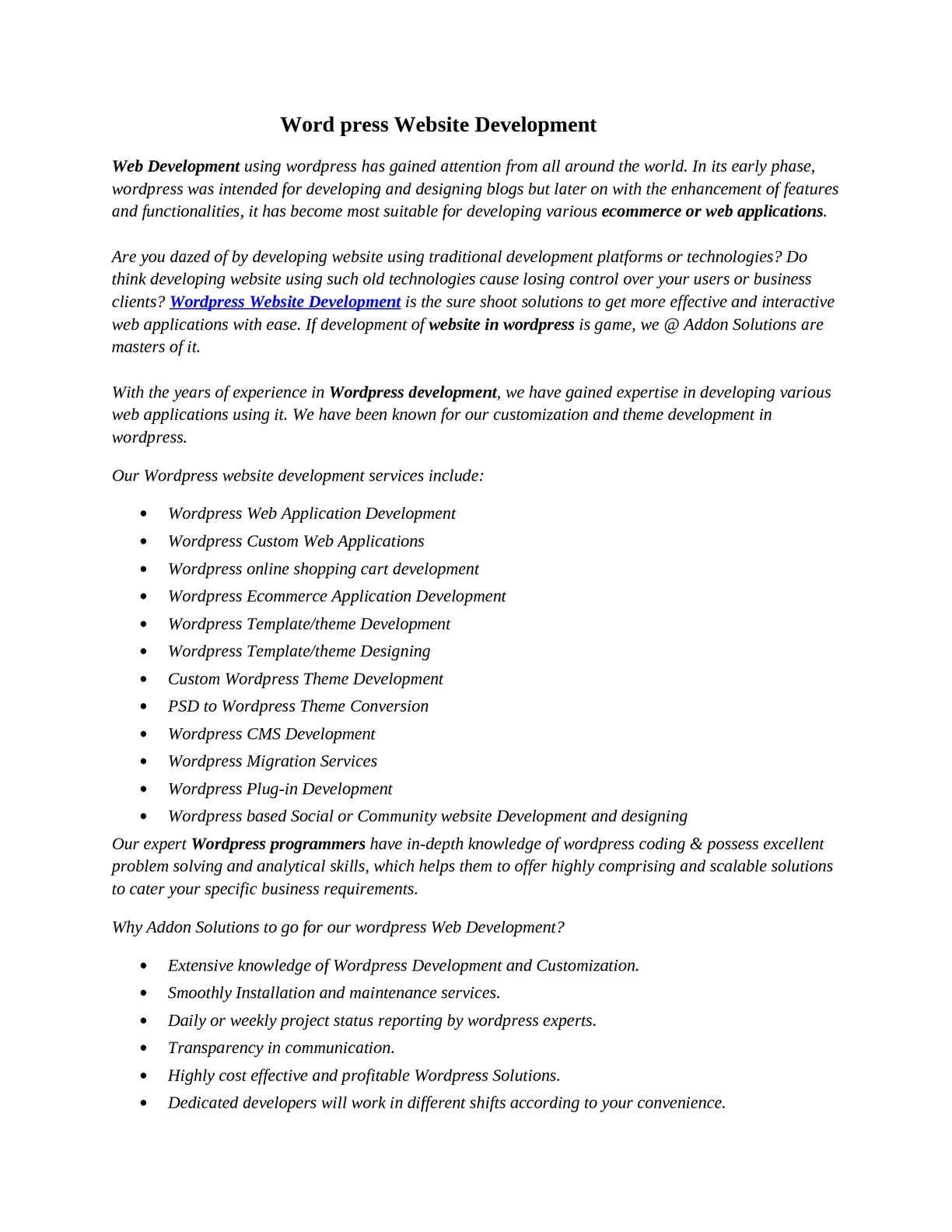Calaméo - Word Press Website Development