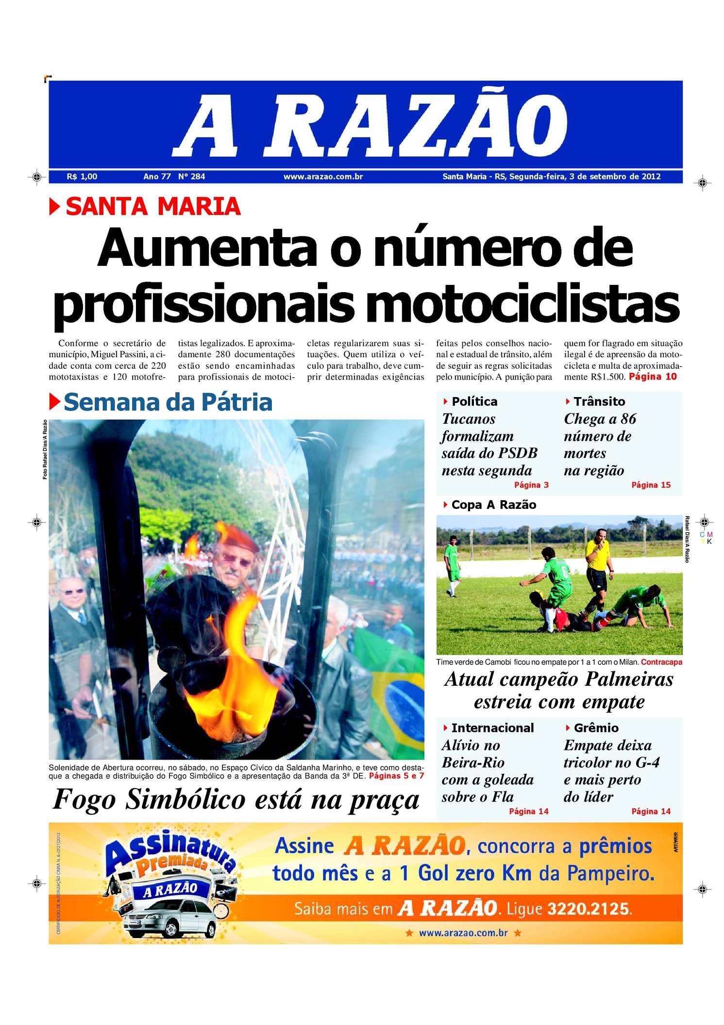 db1582a0e8 Calaméo - Jornal A Razão Santa Maria - 03092012