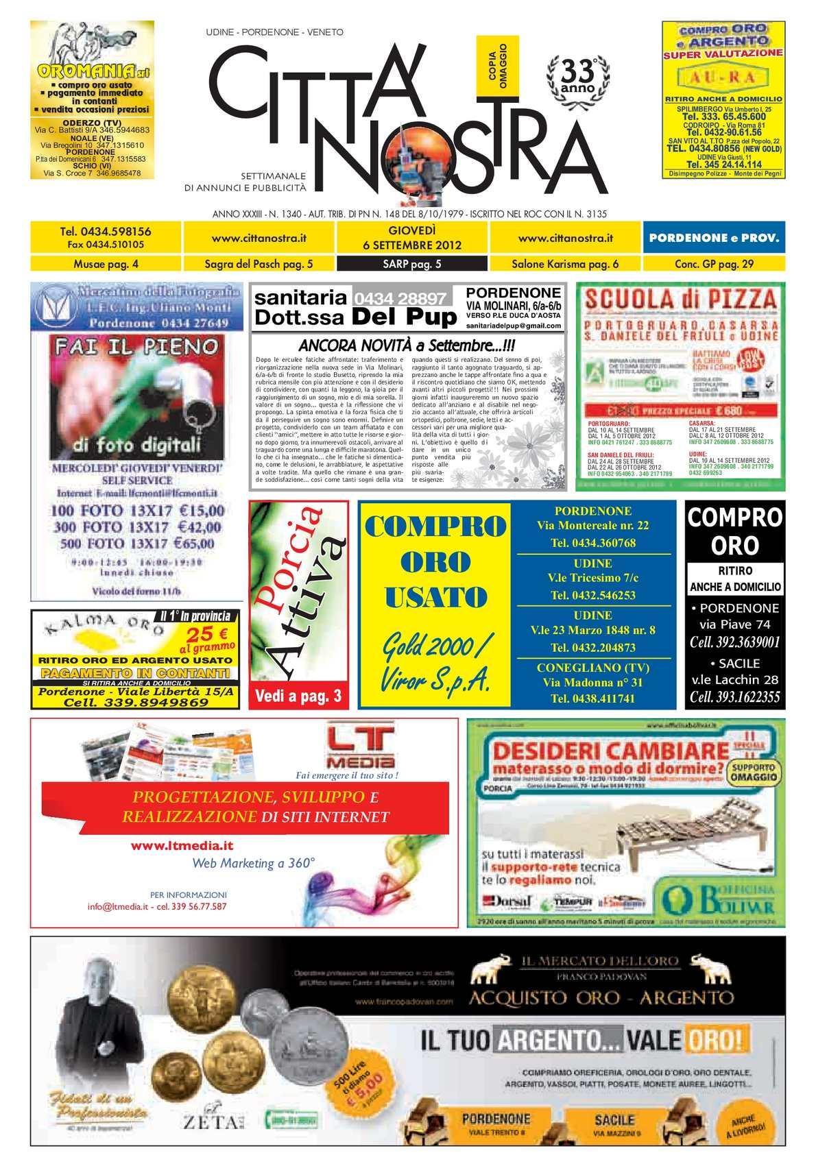 Calaméo Città Nostra Pordenone Del 06092012 N 1340