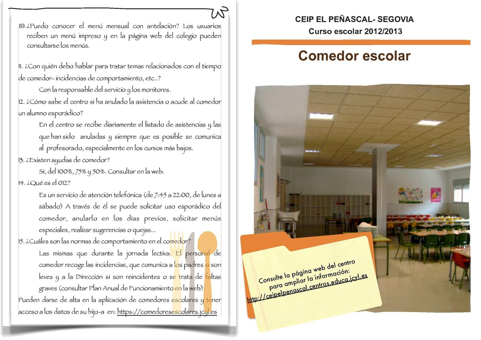 Calaméo - Boletín informativo comedor escolar El Peñascal ...