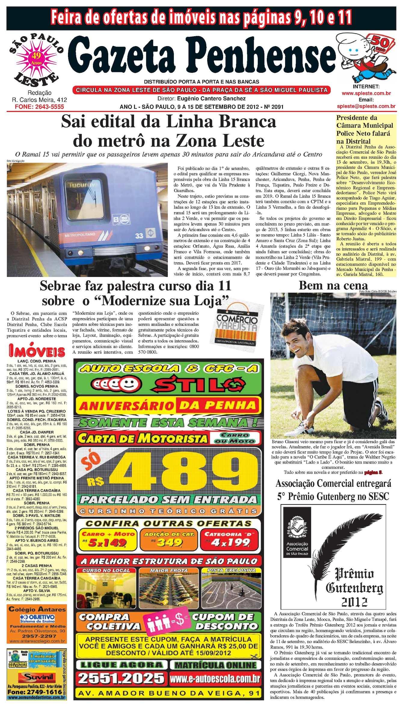 Calaméo - Gazeta Penhense 9 a 15 de setembro de 2012 - edição 2091 ad06fc192eda3