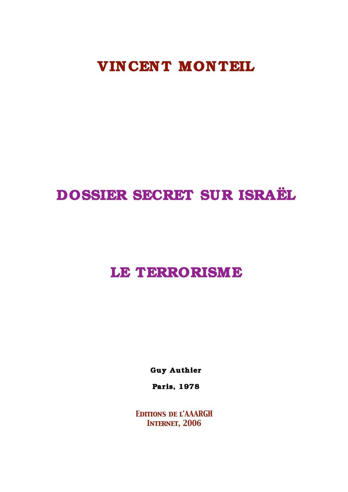 Calaméo - DOSSIER SECRET SUR ISRAËL LE TERRORISME 9c7b1fe2d3b6