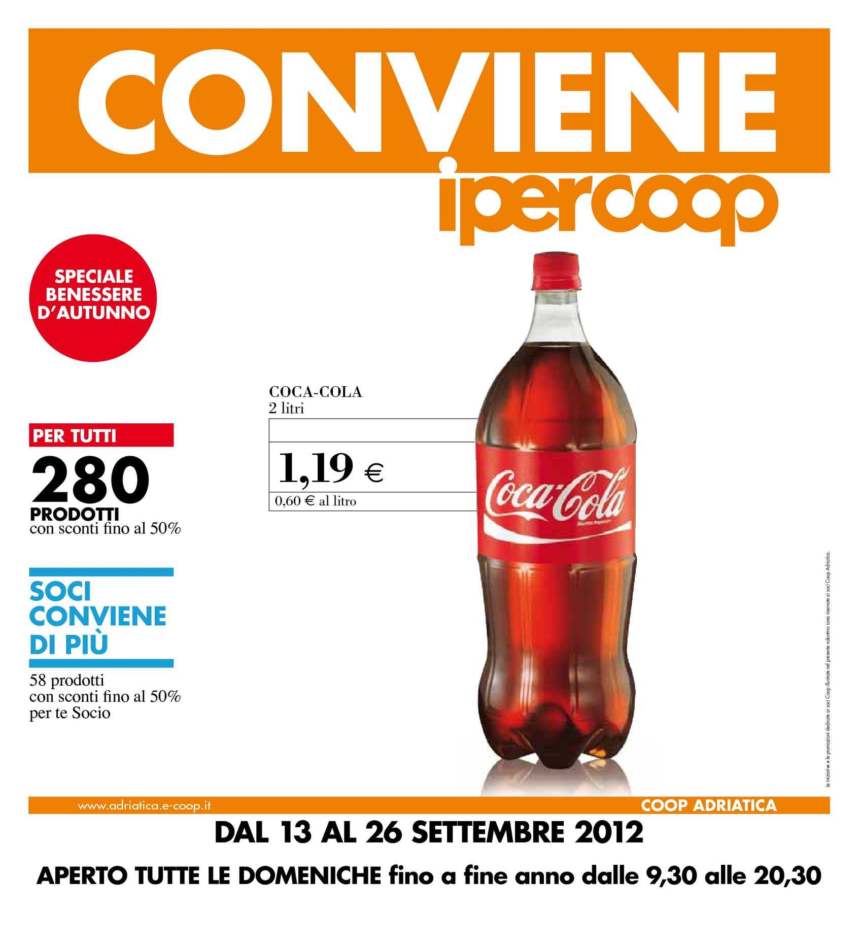 Materasso Memory Offerta Coop.Calameo Volantino Ipercoop Cone Dal 13 Al 26 Settembre 2012