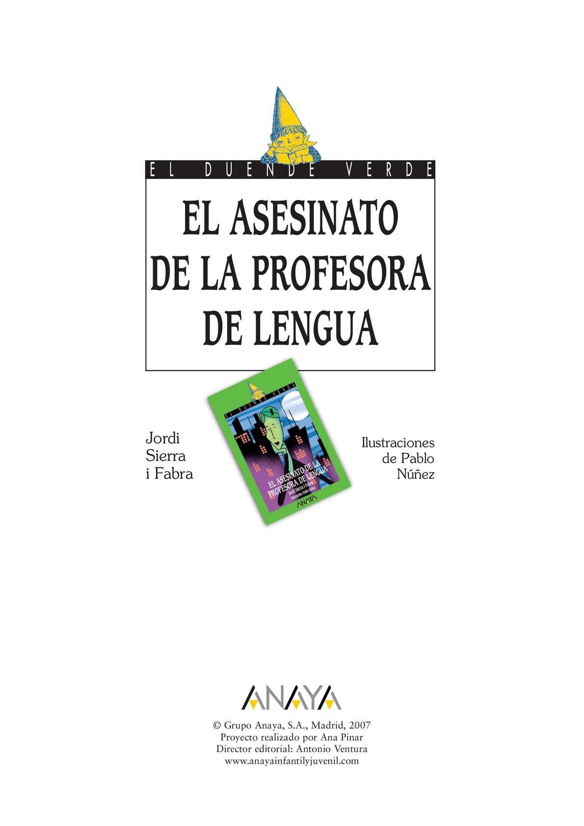 PDF Libro El Asesinato De La Profesora De Lengua - PATTY PDF