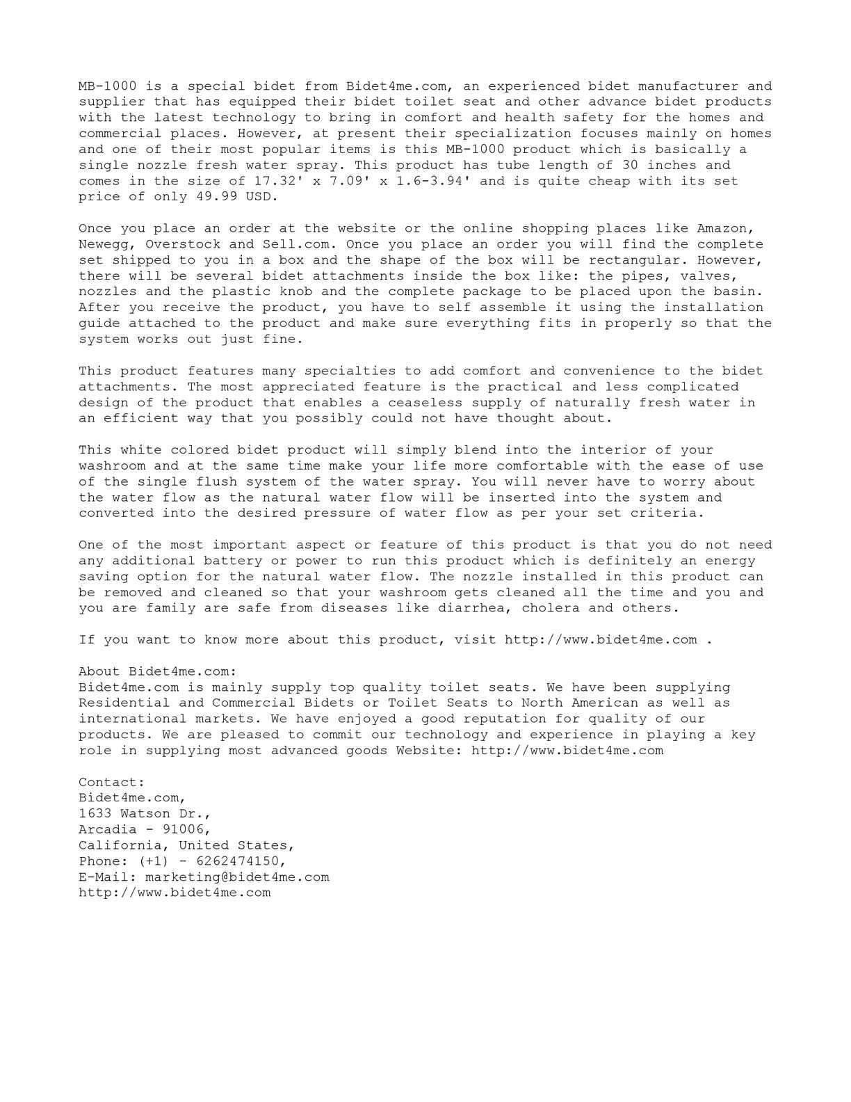 Astounding Calameo Bidet4Me Mb 1000 Easy Bidet Review Machost Co Dining Chair Design Ideas Machostcouk