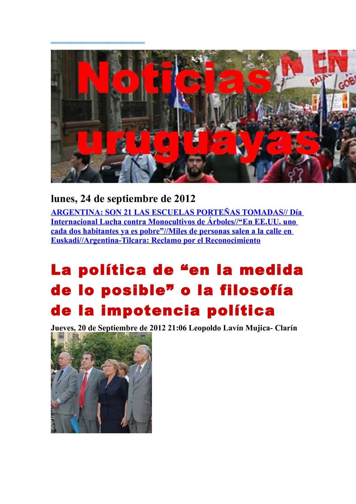 Calaméo Noticias Uruguayas lunes 24 setiembre del 2012