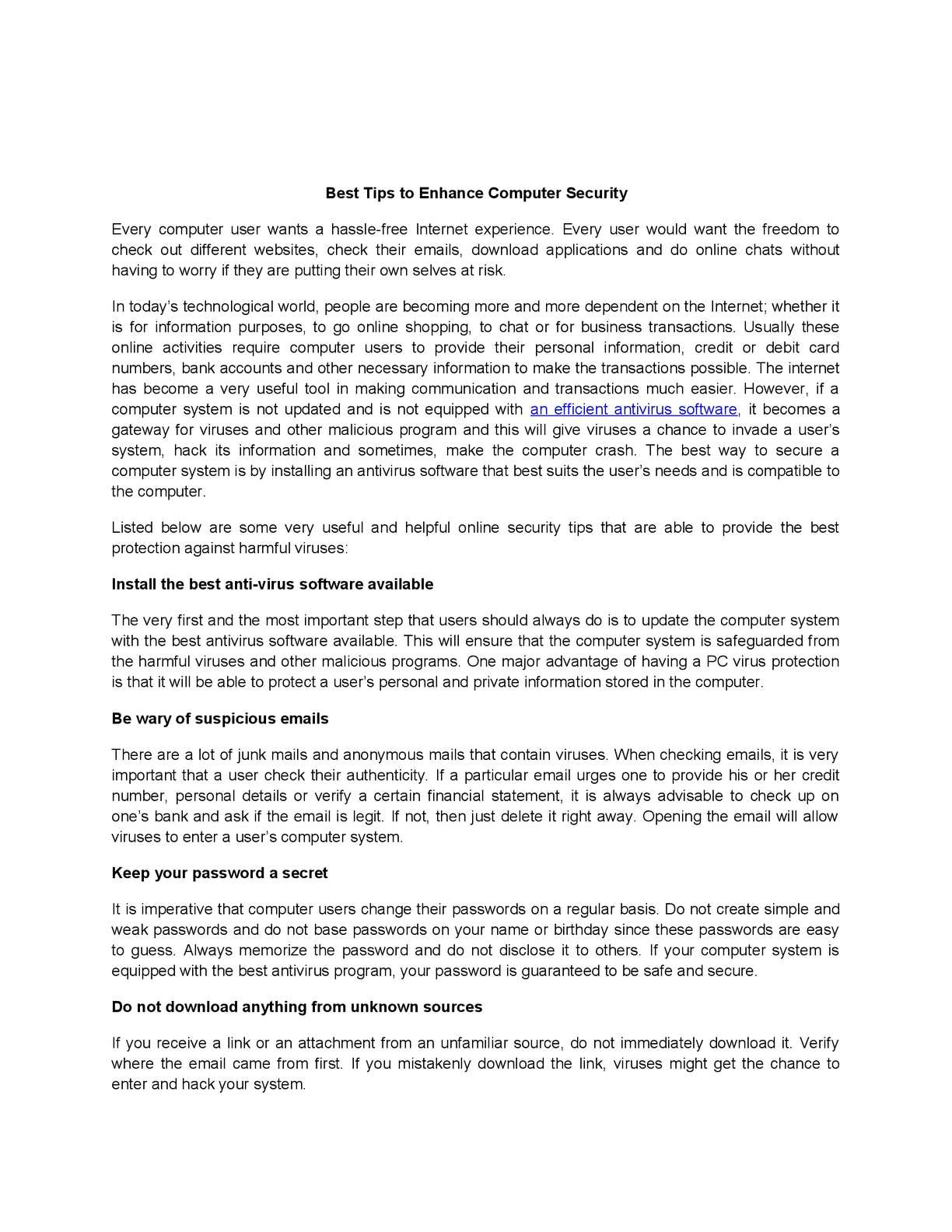 Calaméo - Best Tips to Enhance Computer Security