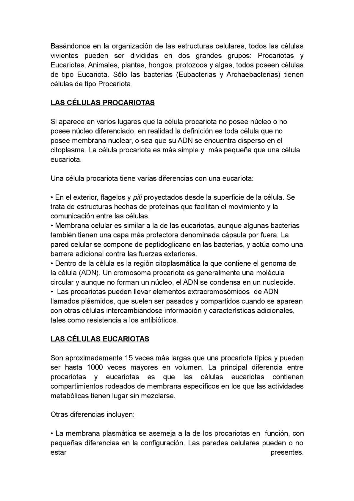 Calaméo Celula Procariota Eucariota Animal Y Vegetal