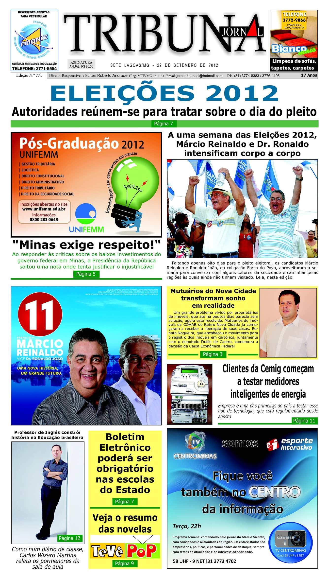 5ddd93345 Calaméo - Jornal Tribuna de Sete Lagoas - Edição 771