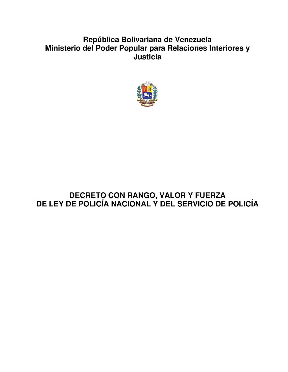 Calaméo Ley De Policia Nacional Venezuela