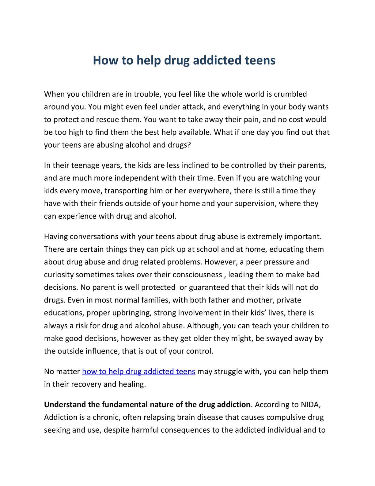 Calaméo - How To Help Drug Addicted Teens