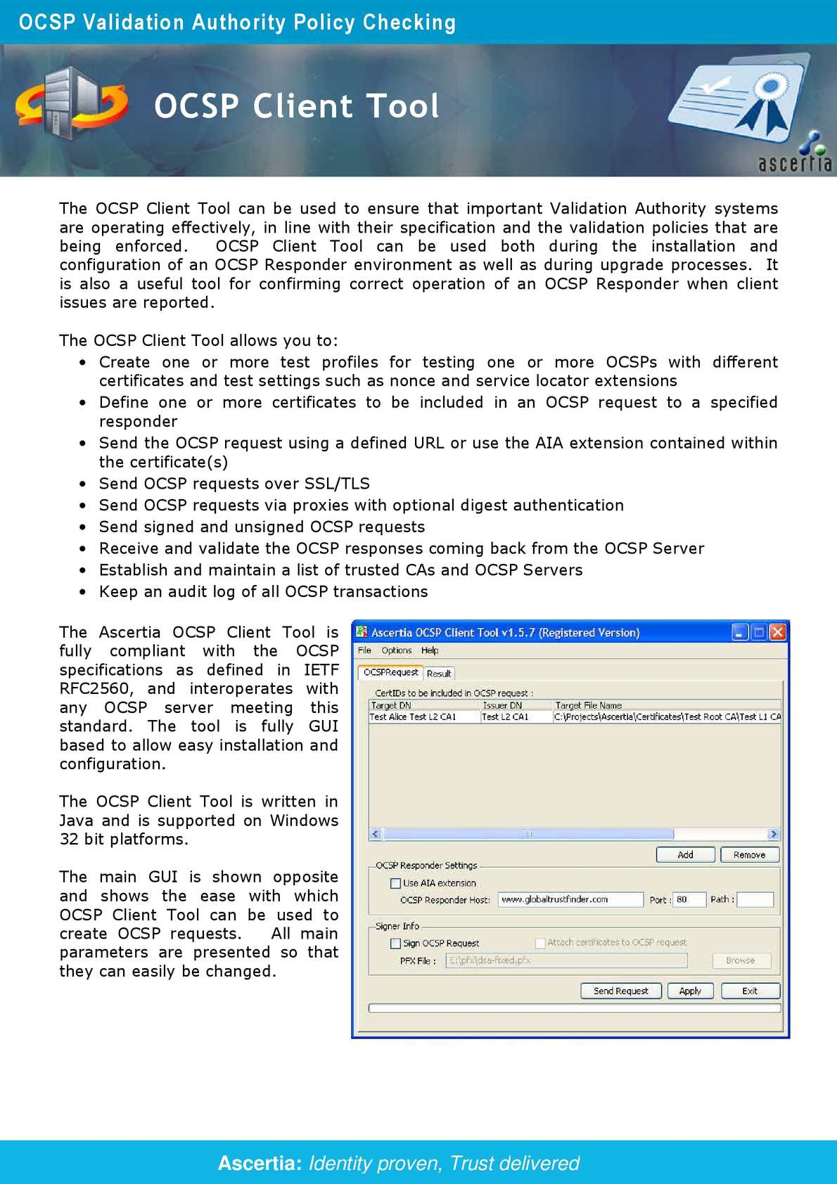 Calaméo - OCSP Client Tool Datasheet