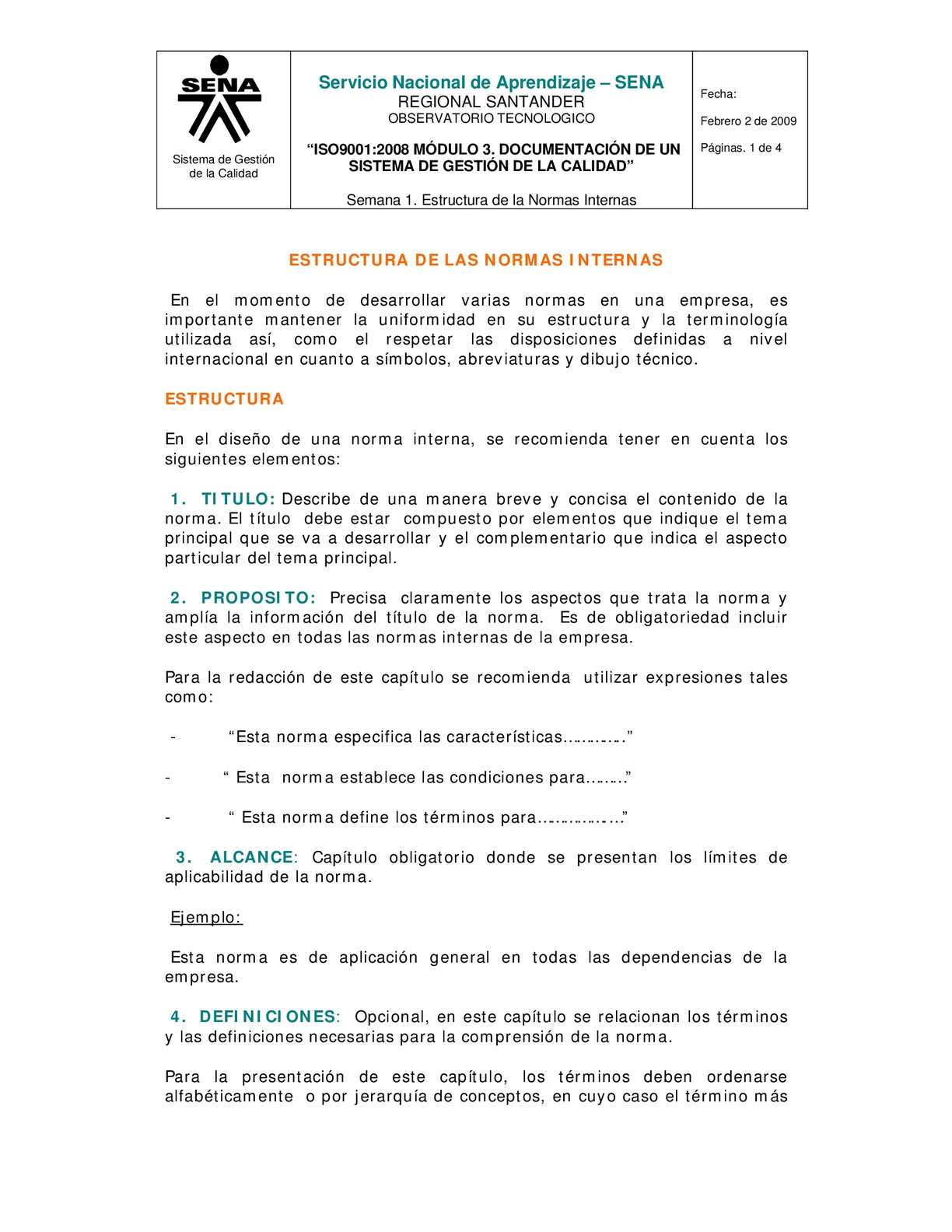 Calaméo Estructura De Las Normas Internas