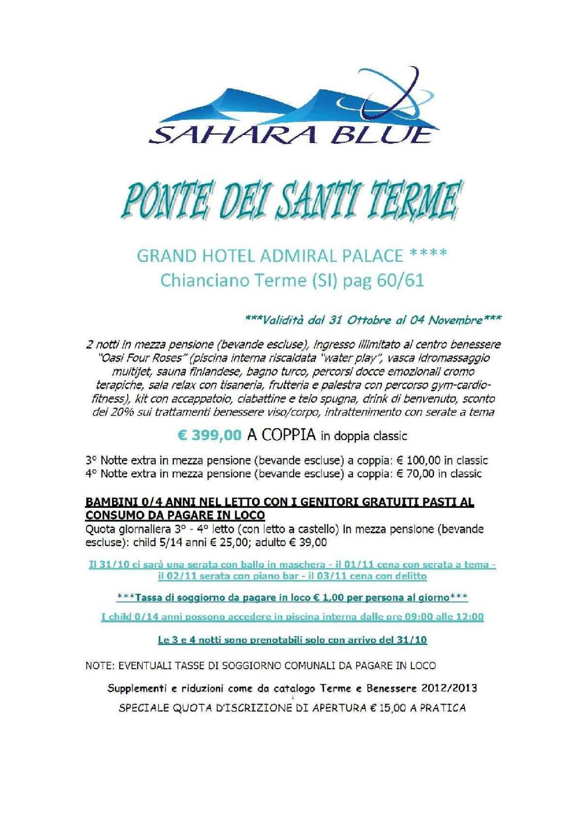 Letto A Castello 1 Persona.Calameo Offerte Sahara Blue 12 Ottobre