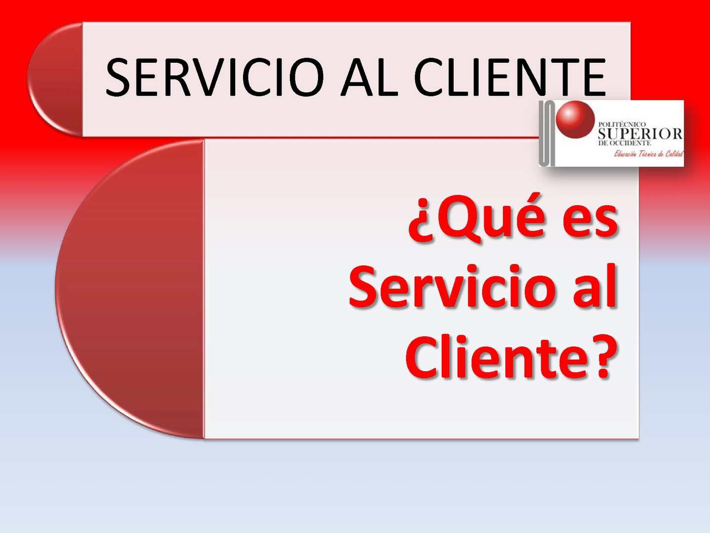 Definición de Servicio al Cliente