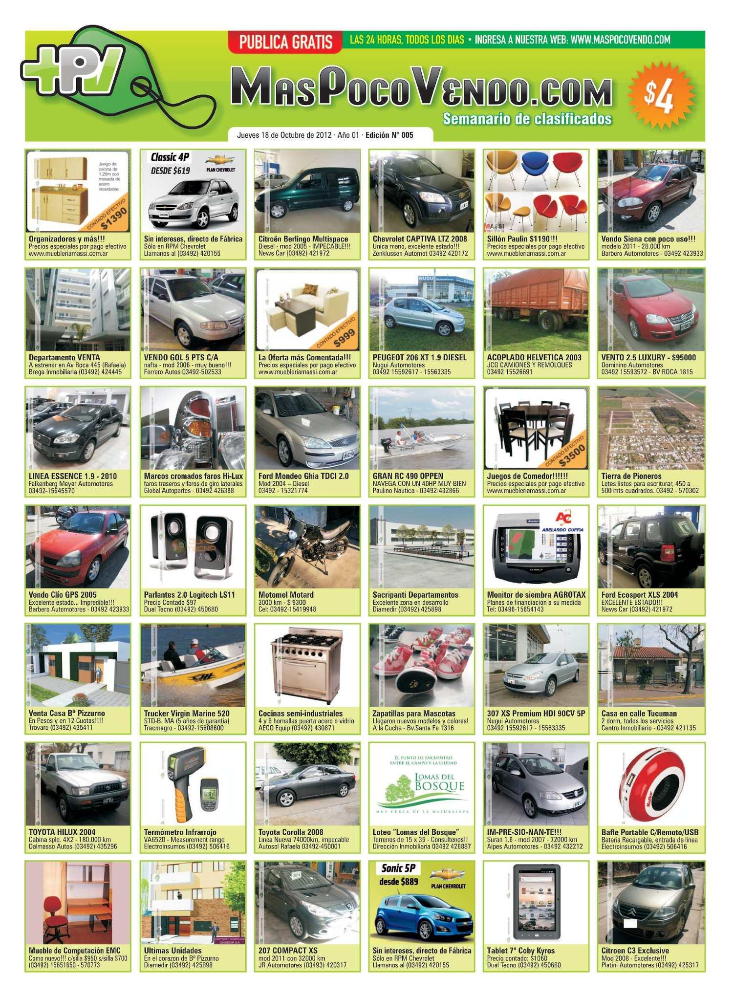 7ac9925221d33 Calaméo - MasPocoVendo Semanario Edic 005