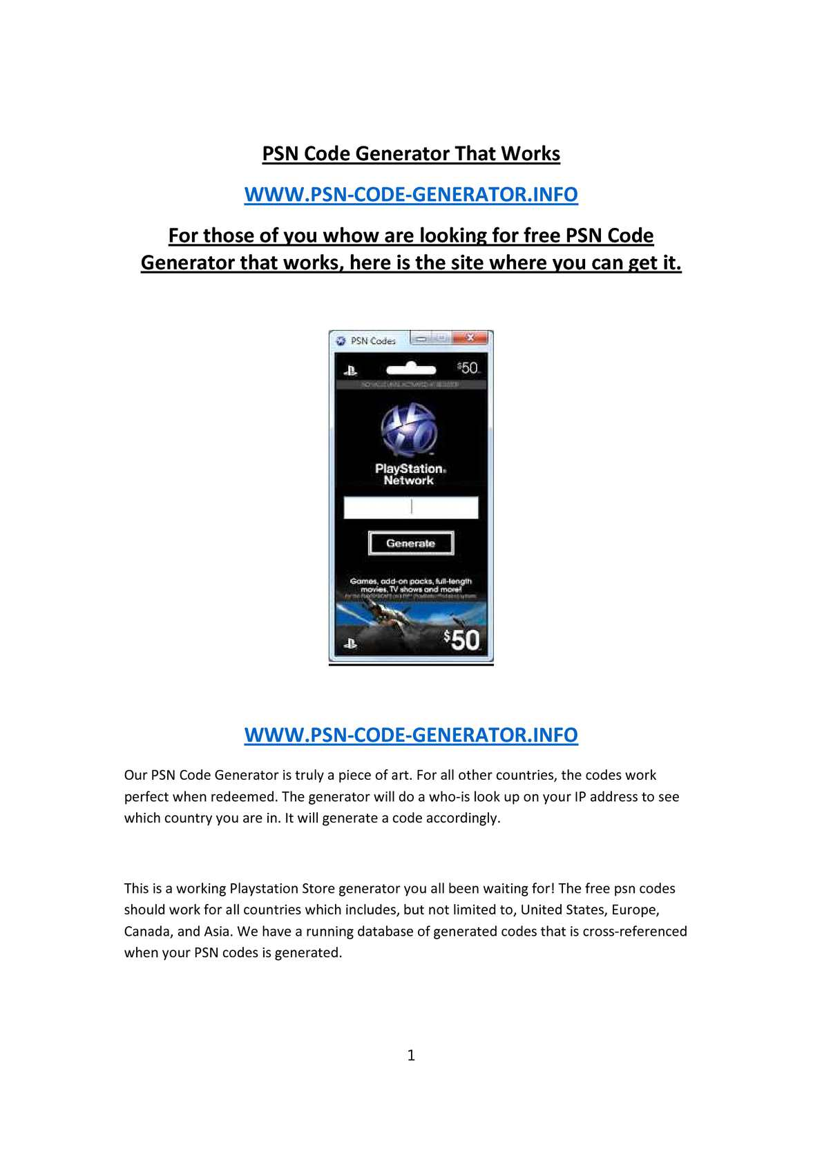 Calaméo - PSN Code Generator That Works