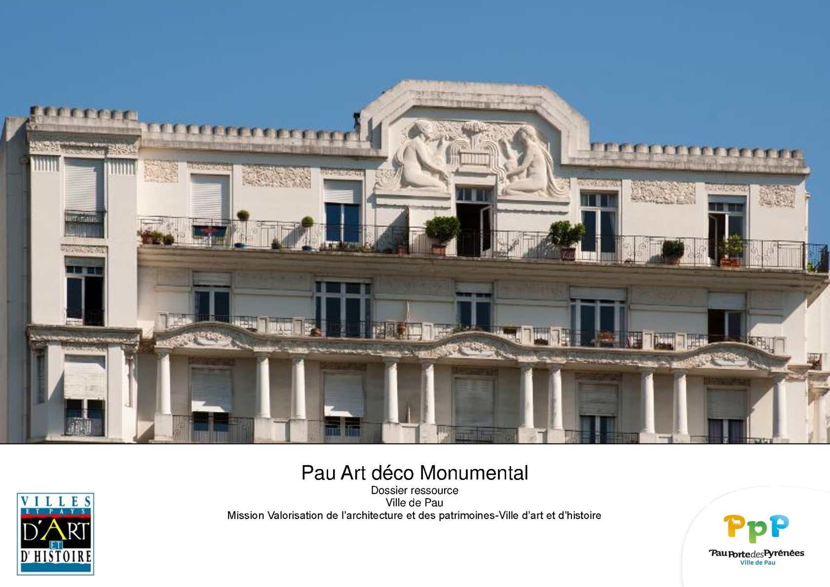 Pau Art déco Monumental   CALAMEO Downloader