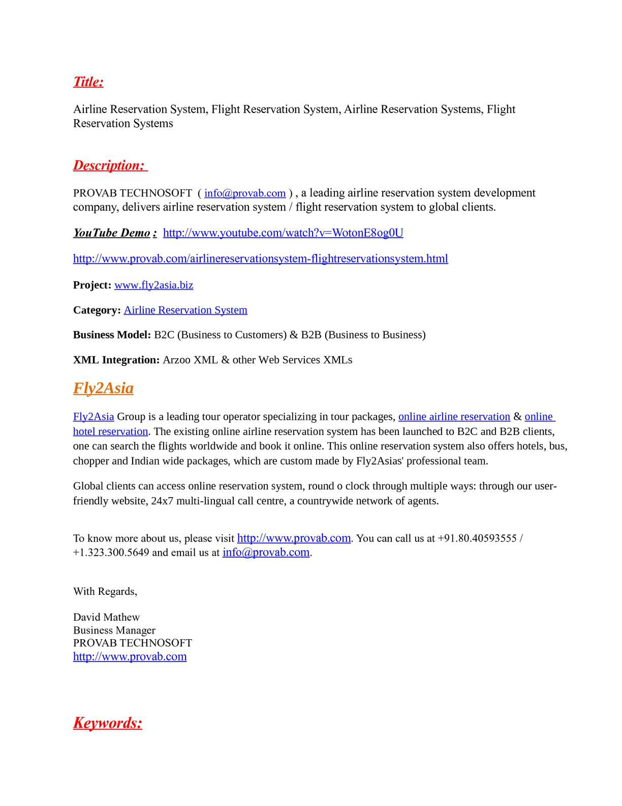 Calaméo - Airline Reservation System, Flight Reservation