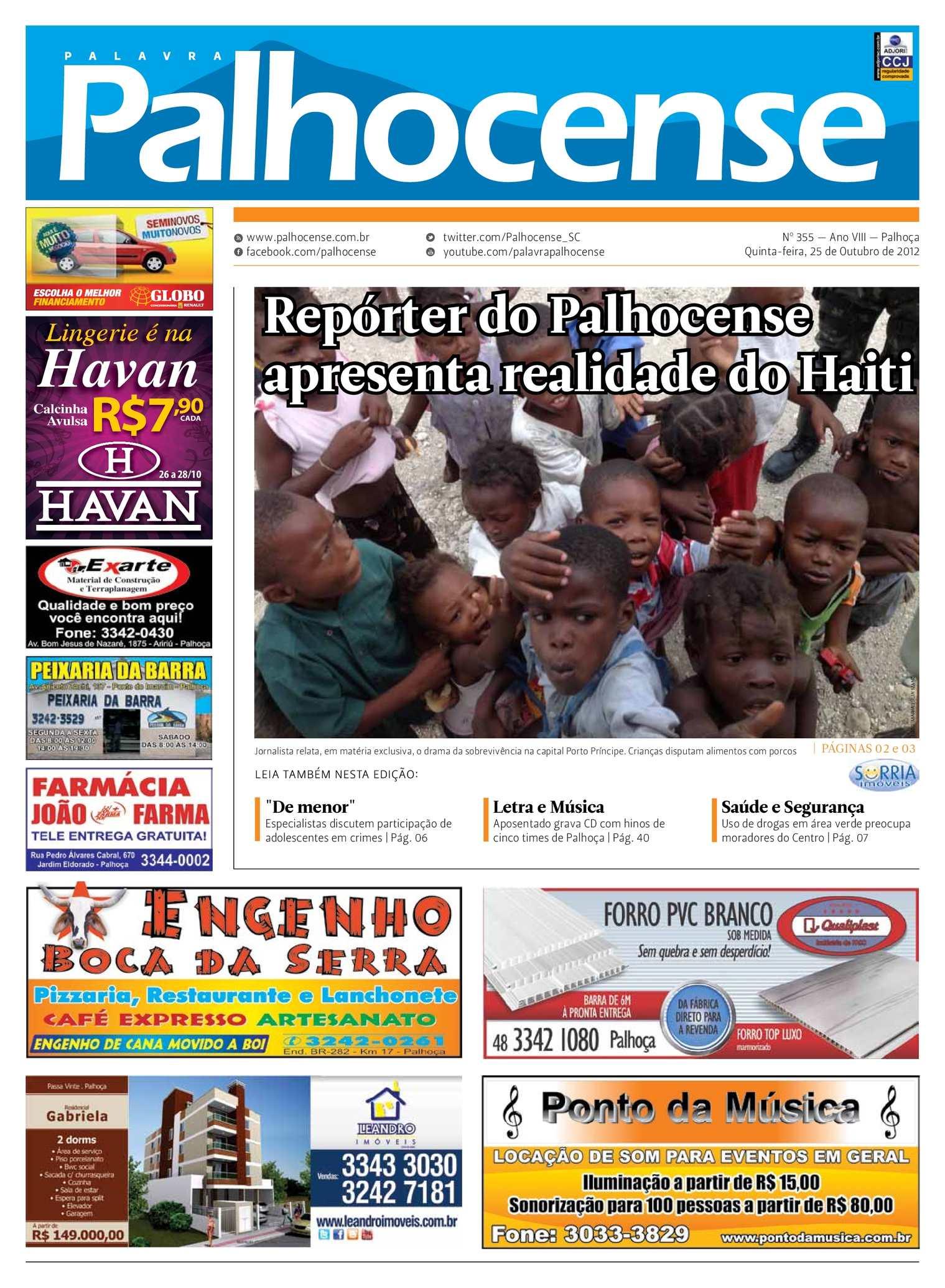 2bc719669688d Calaméo - Jornal Palavra Palhocense - Edição 355