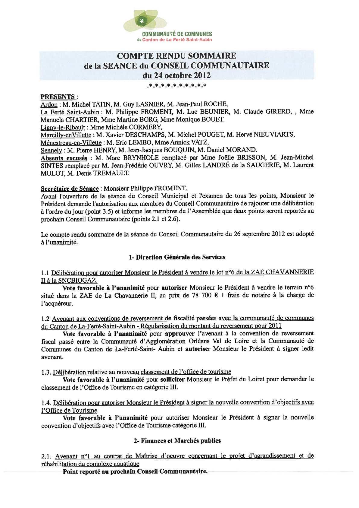 Maître D Oeuvre Orléans calaméo - cr sommaire 24 octobre