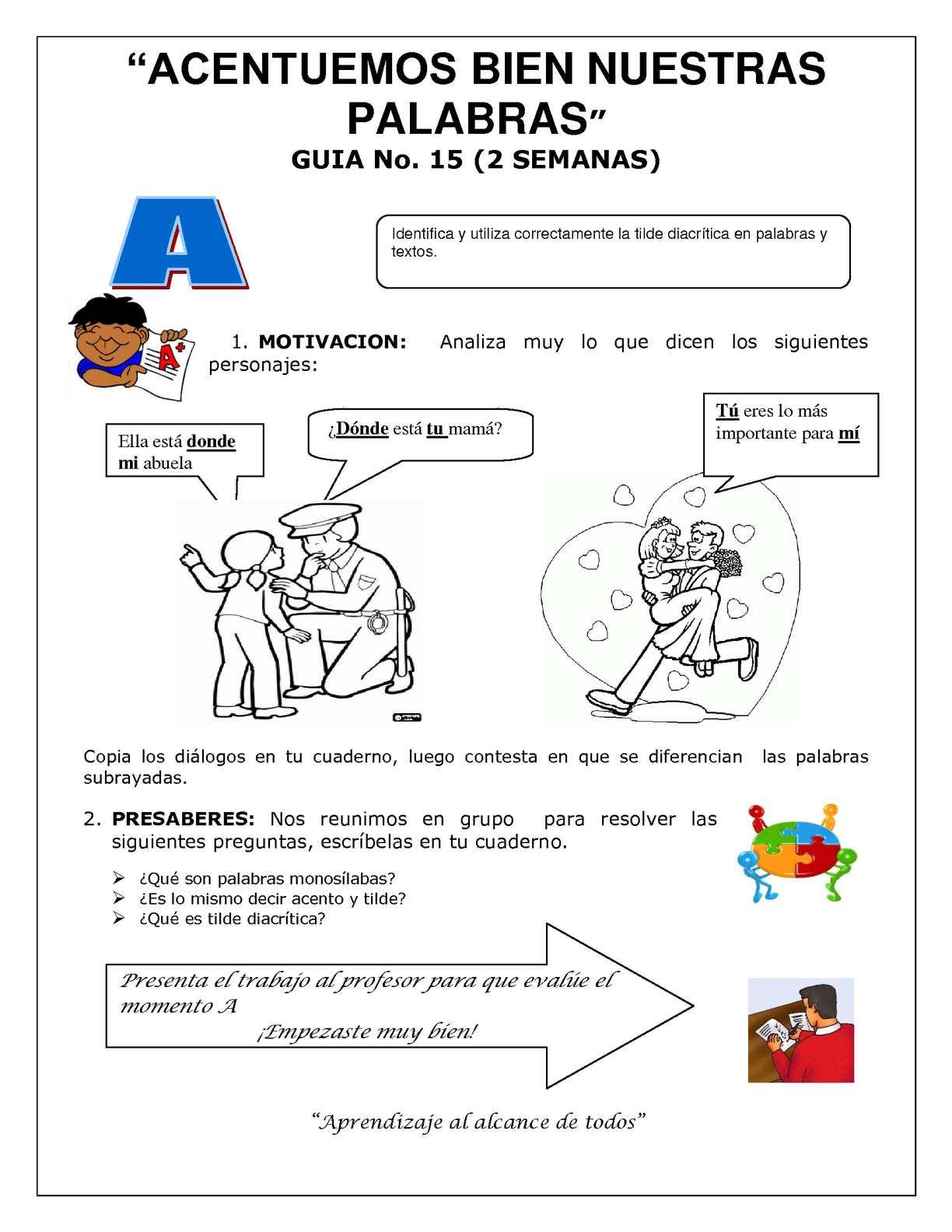 Guía 15 Castellano de 7°
