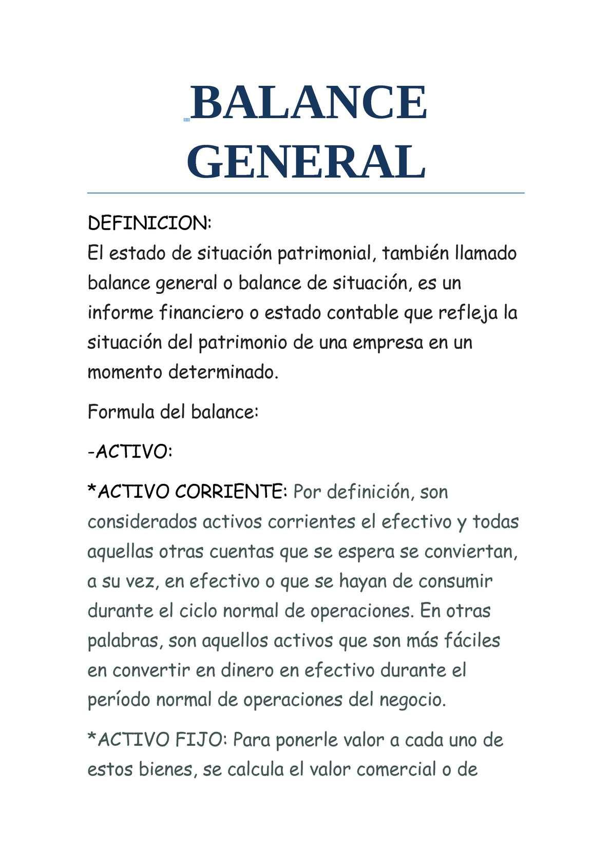 Calaméo Balance General