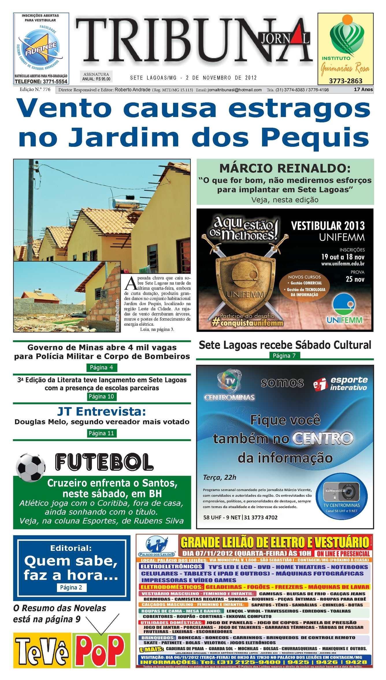 Calaméo - Jornal Tribuna de Sete Lagoas - Edição 776 85909d60e4473