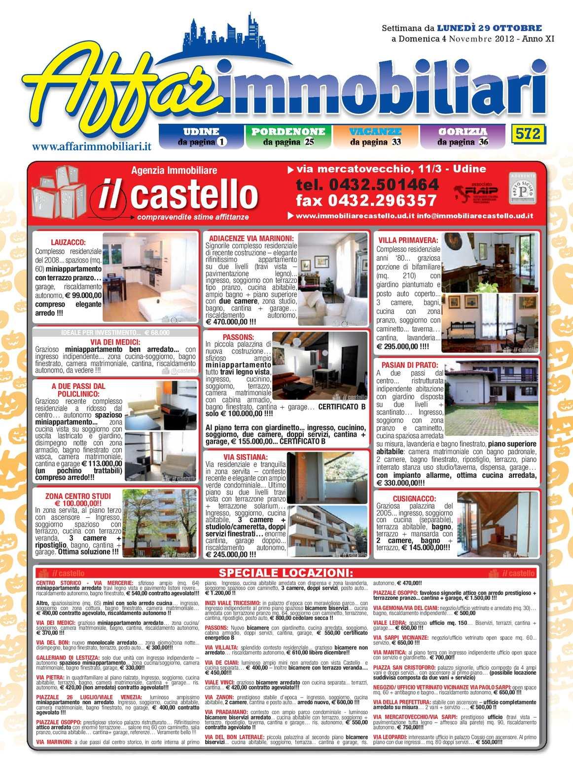 Calaméo Affarimmobiliari 572 Del 29 Ottobre 2012