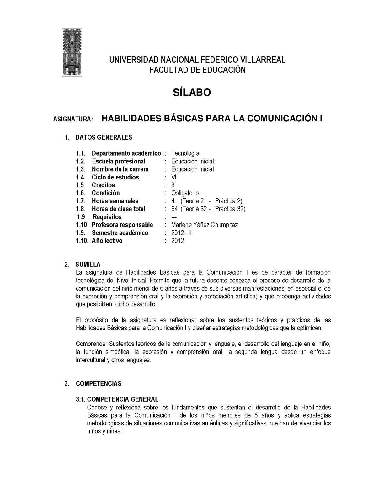 8934dacfb3 Calaméo - SÍLABUS DE HABILIDADES BÁSICA PARA LA COMUNICACIÓN I