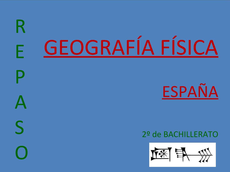 Calaméo Repaso Geografía Física De España