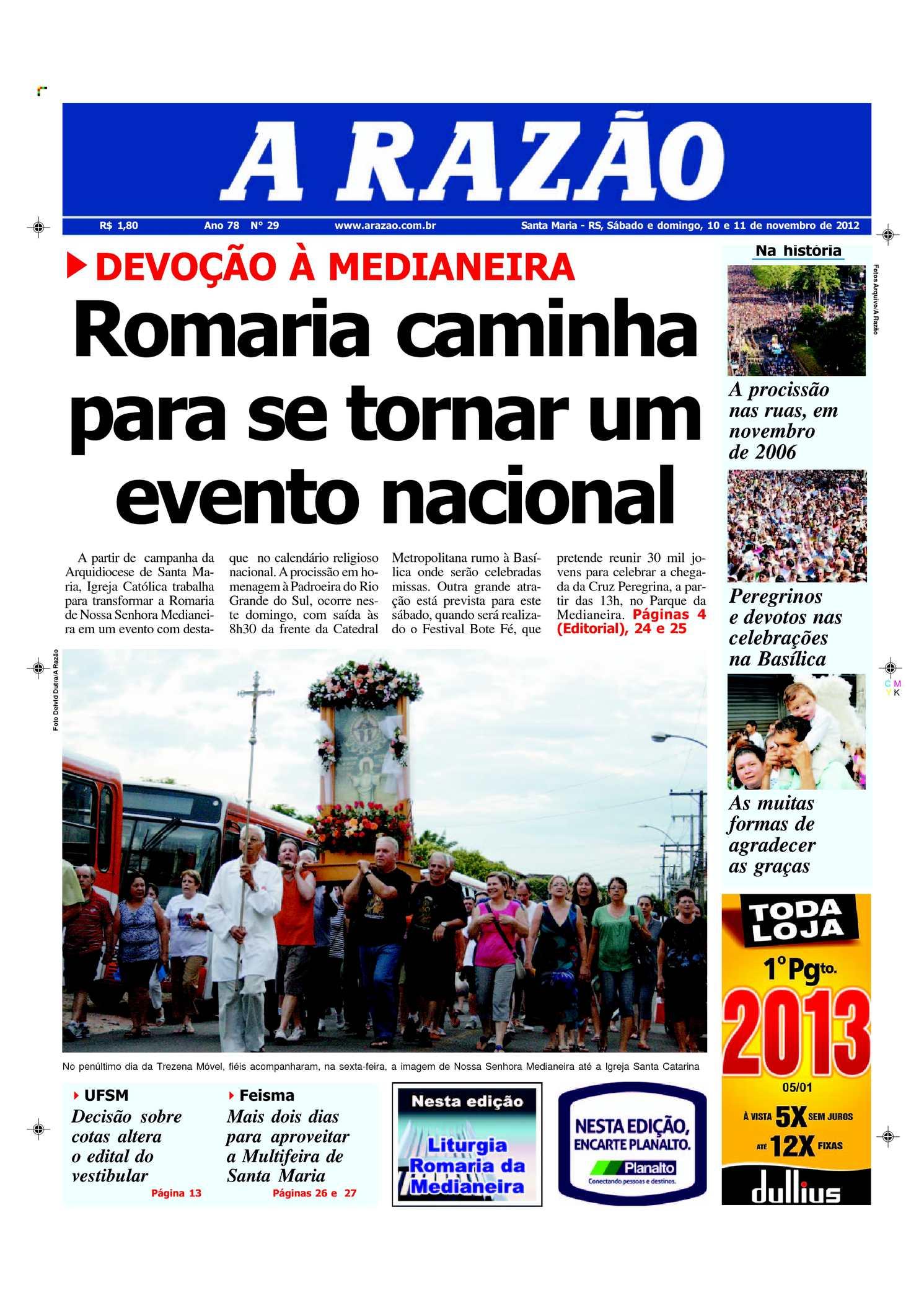 afa836f19db0a Calaméo - Jornal A Razão Santa Maria - 10112012