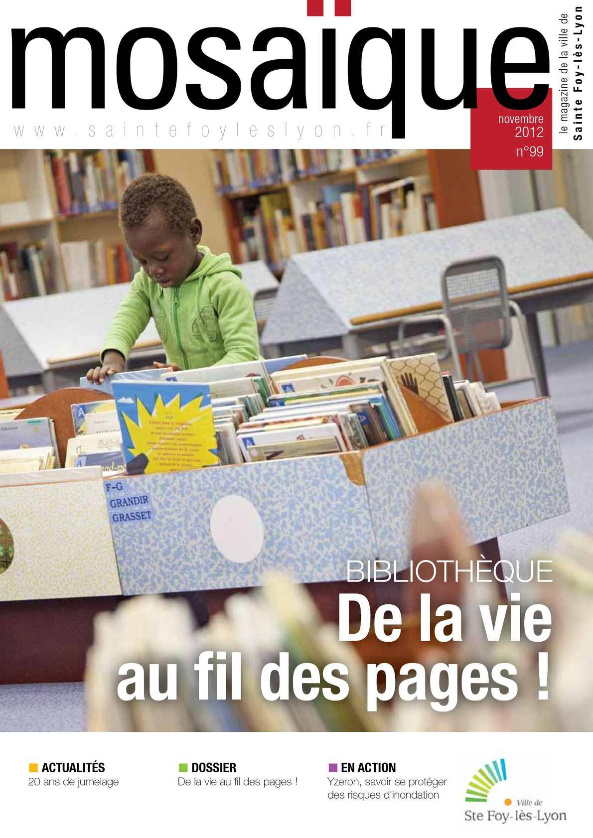 Bibliothèque Ste Foy Les Lyon calaméo - mosaïque n°99 novembre 2012