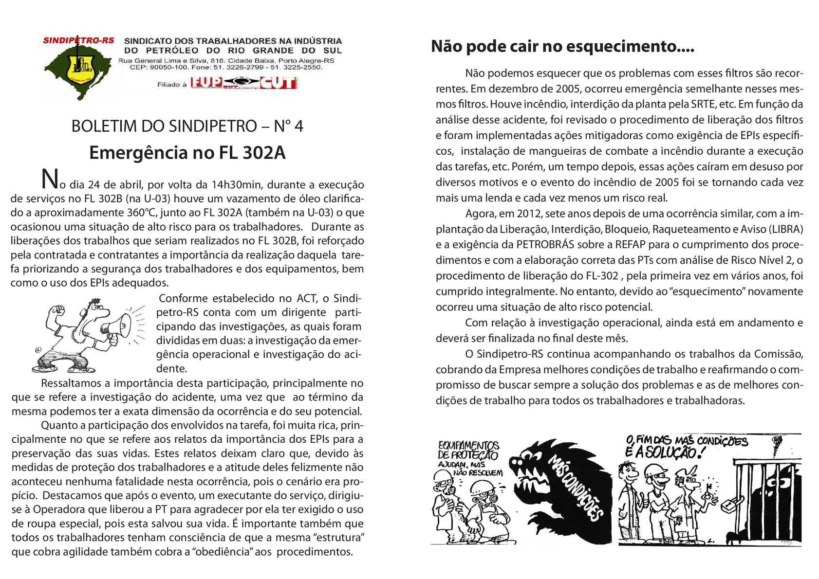 Calaméo - BOLETIM DO SINDIPETRO – N°4 - Emergência no FL 302A 5b2953048f