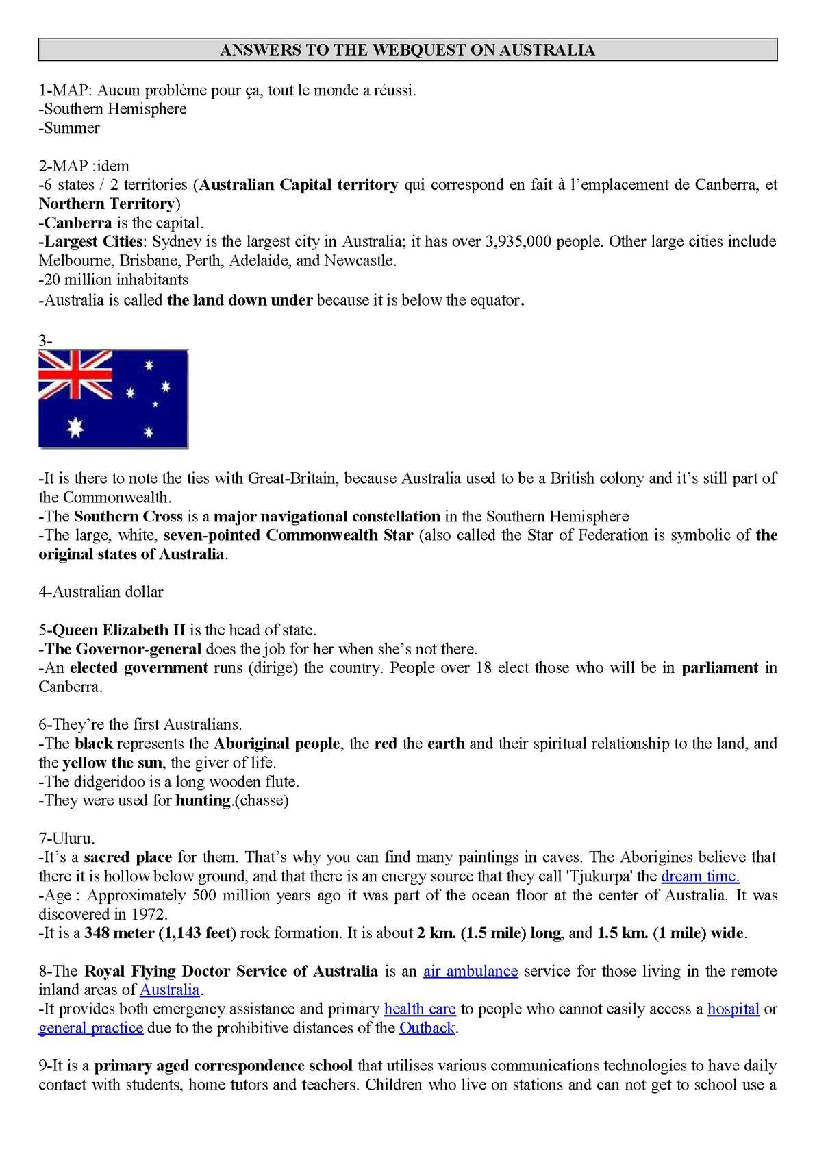 Australia Map 6 States.Calameo Australia Webquest Answers