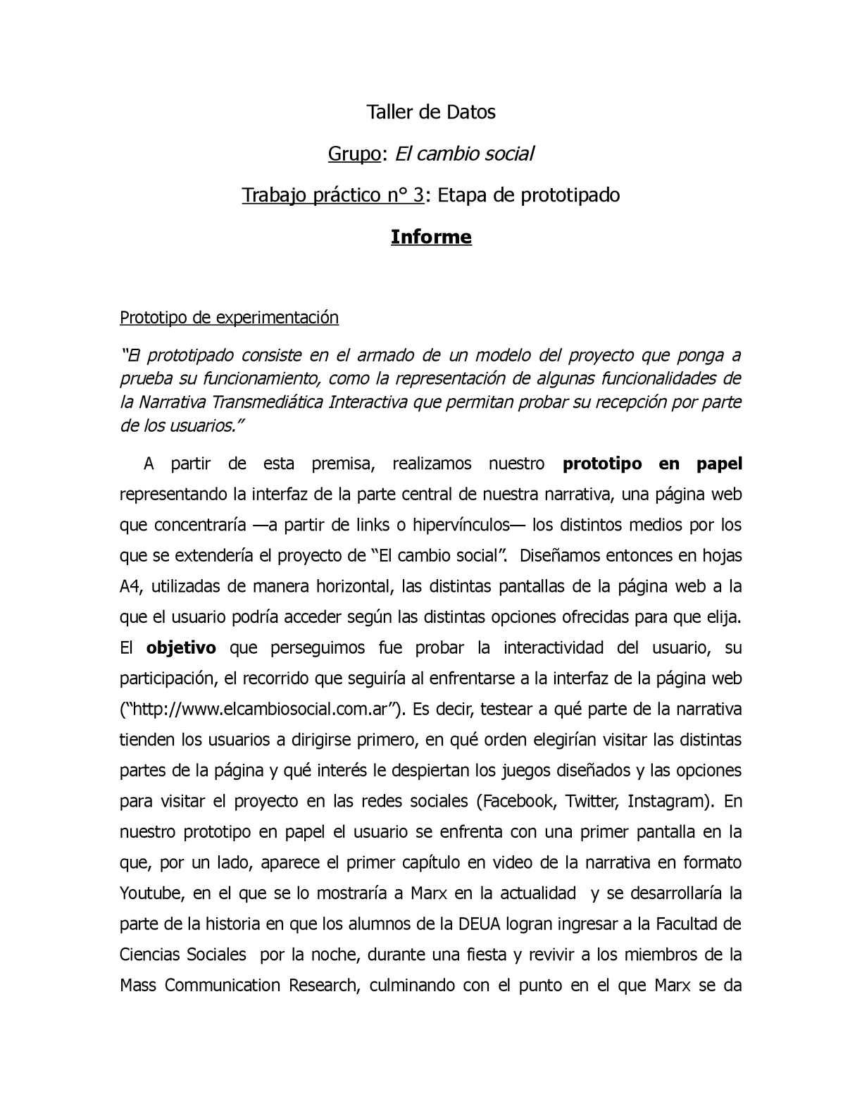 Calaméo Informe Del Prototipo