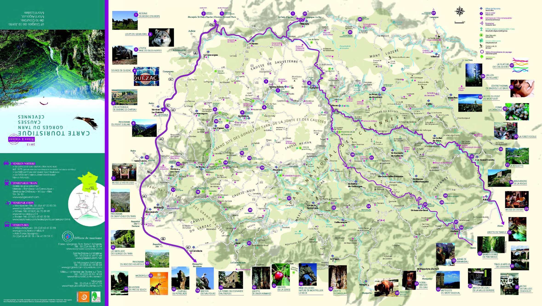 carte gorges du tarn Calaméo   Carte touristique gorges du Tarn Cevennes