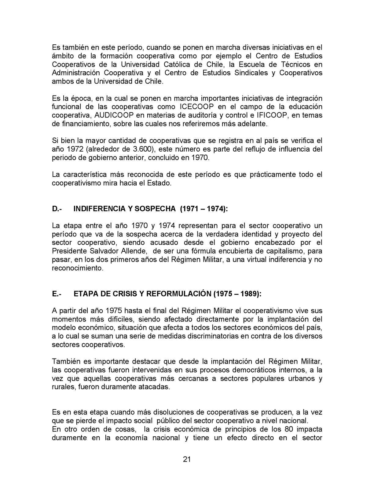 Marioradrigán Trayectoria Cooperativas En Chile 1998