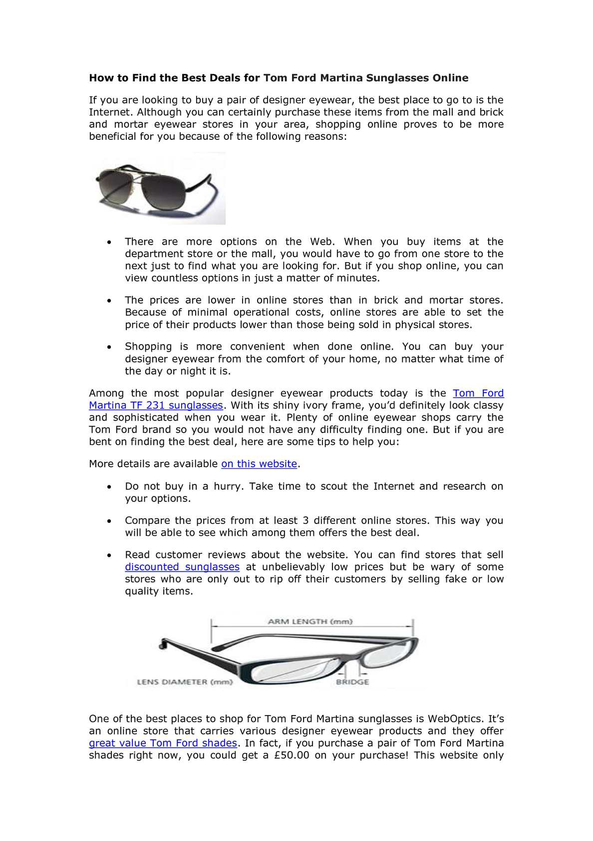 3784f55fba Calaméo - How to Find the Best Deals for Tom Ford Martina Sunglasses Online