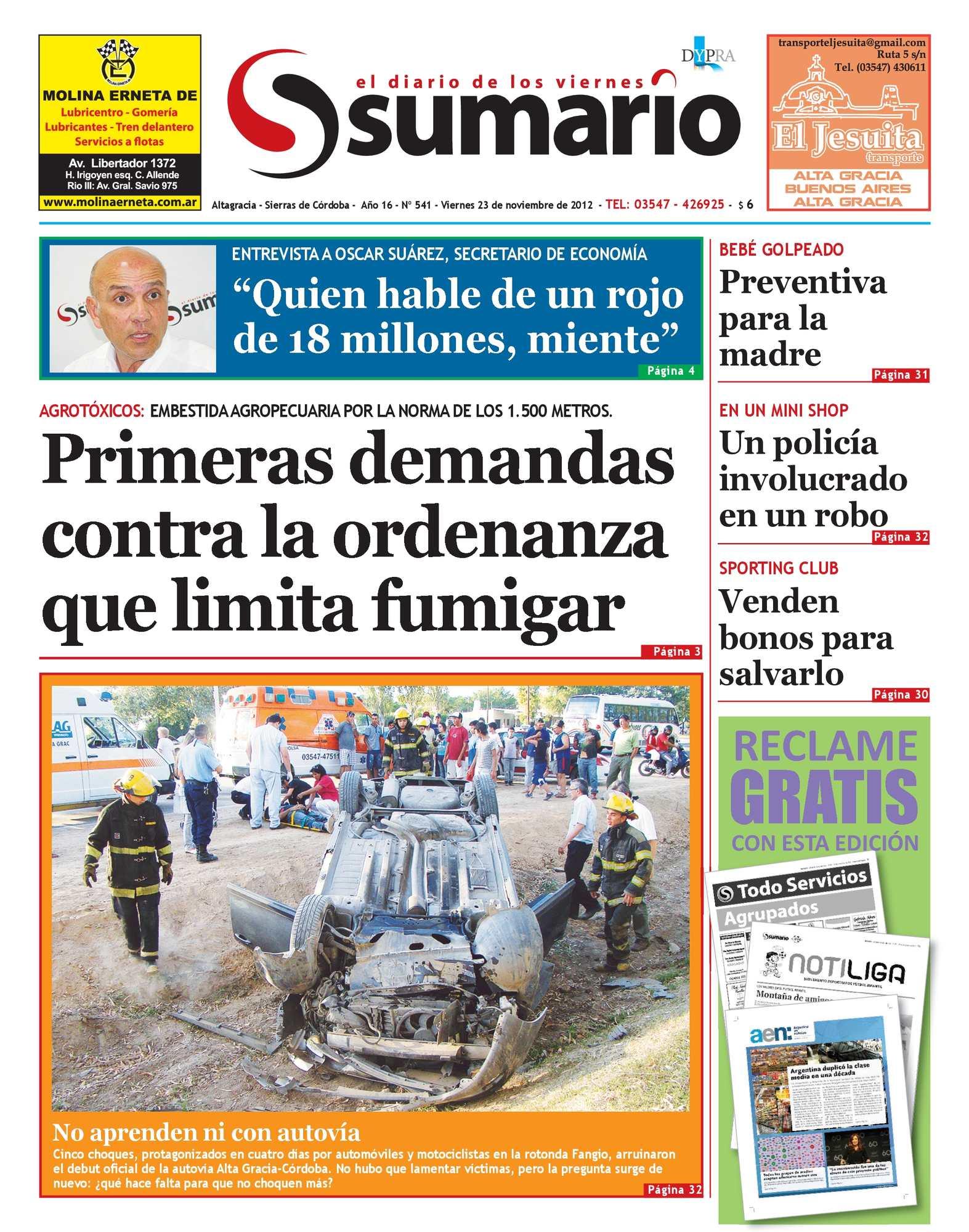 Calaméo - Periódico Sumario. Ed. 541. 23 nov 2012 9728f770696b6