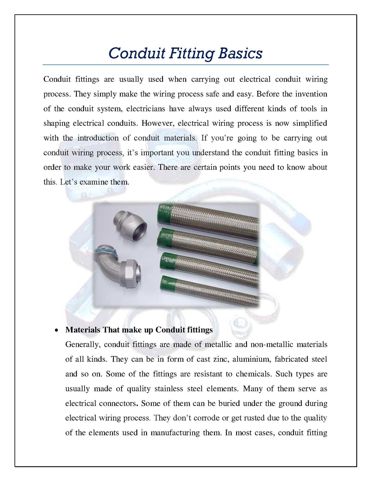 Calamo Conduit Fitting Basics Electrical Fittings Pictures
