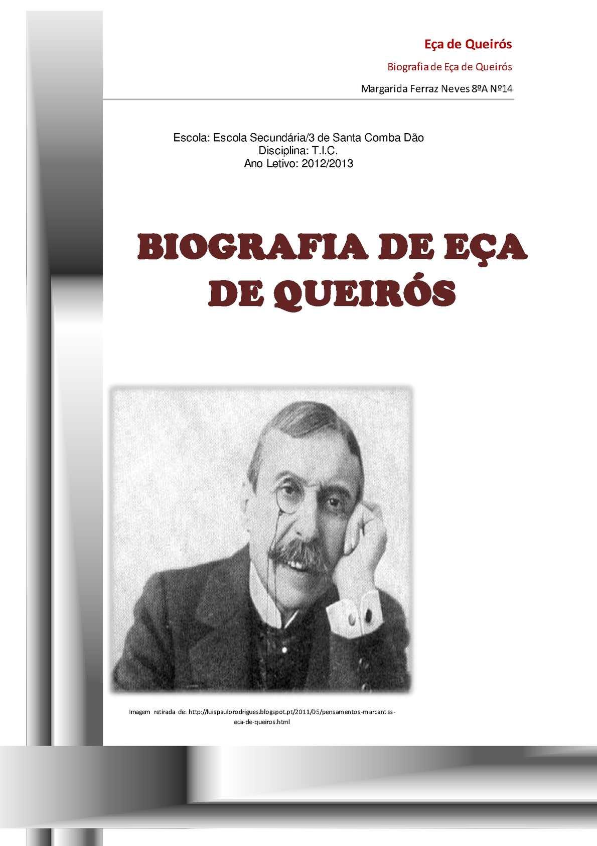 Calaméo Biografia De Eça De Queirós