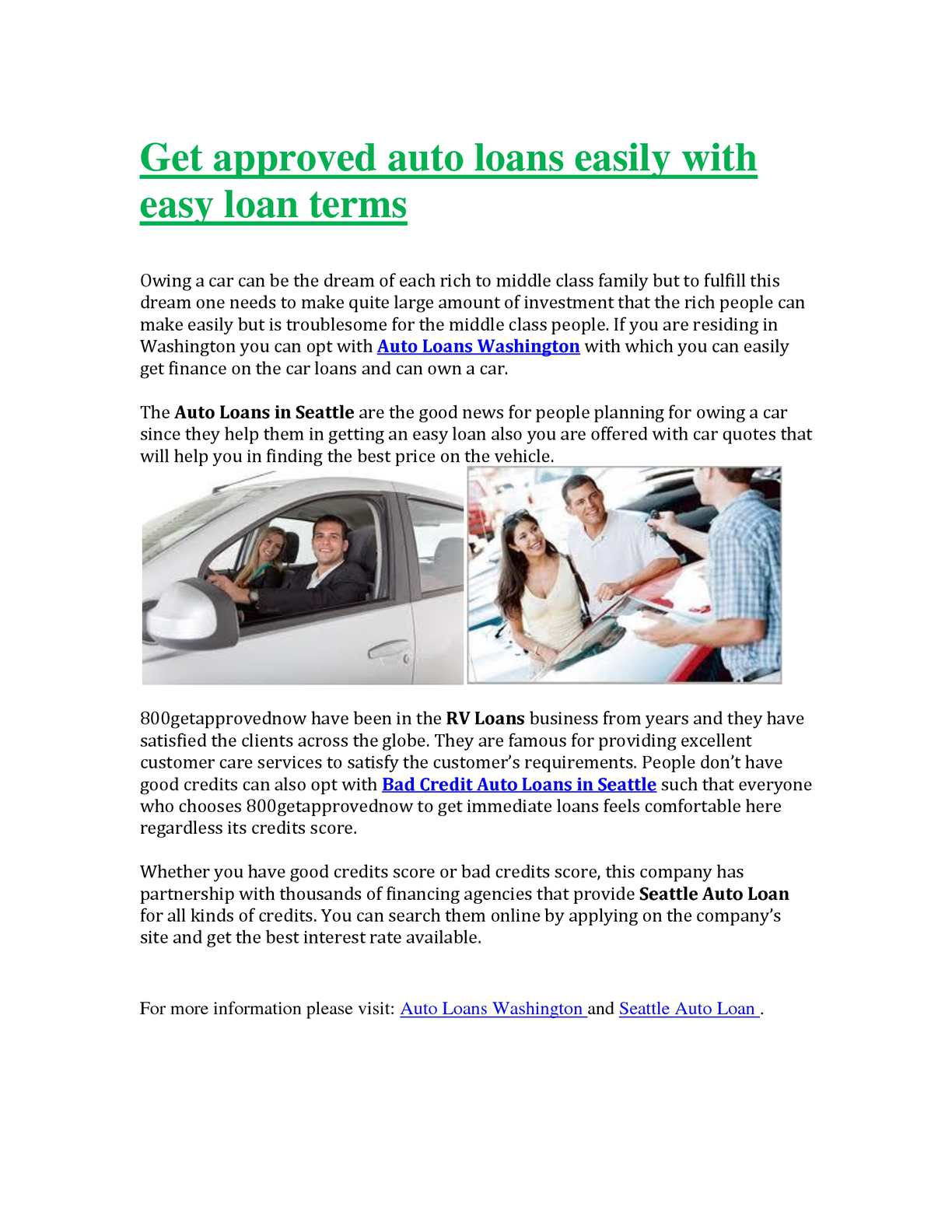 All Approved Auto >> Calameo Get Approved Auto Loans Easily With Easy Loan Terms