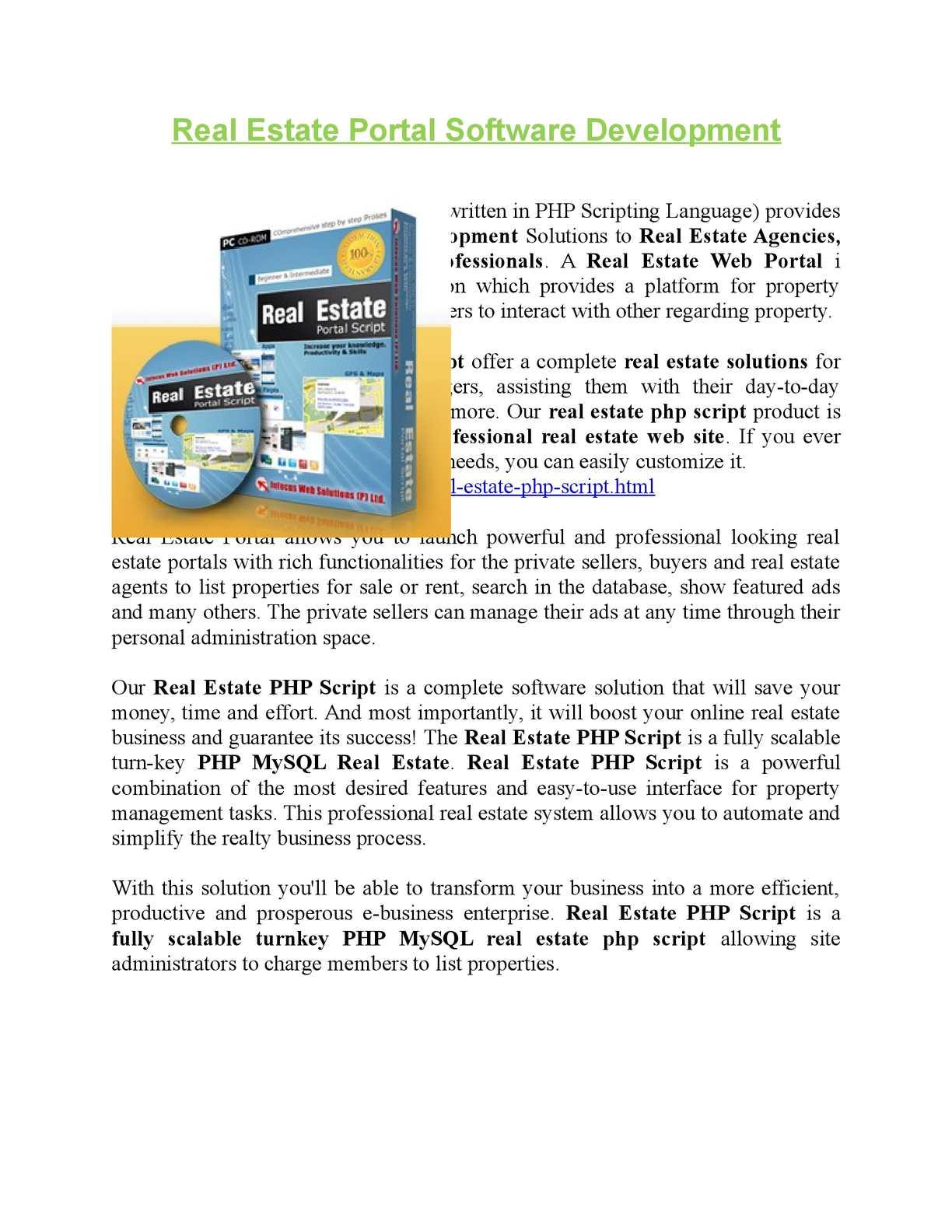 Calaméo - Real Estate Portal Script, Real estate script in