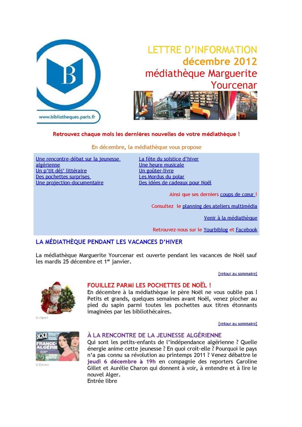 Calameo Infolettre De Decembre 2012
